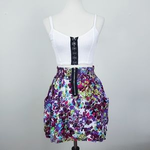 French Atmosphere Floral Skirt